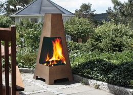 JØTUL TERRAZZA - Wood burning outdoor patio and garden heater