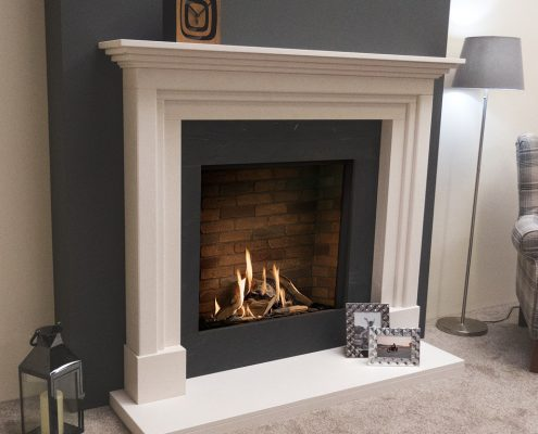 Natura Fireplaces Eldon in Limestone