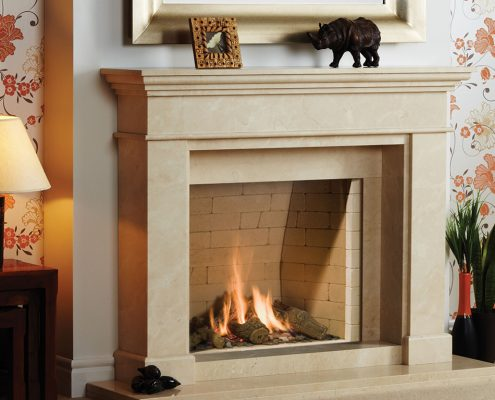 Natura Fireplaces Wirdum in Marsden Beige Limestone