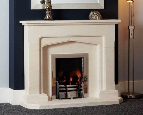 Natura Fireplaces Madison in Semi Rijo Limestone