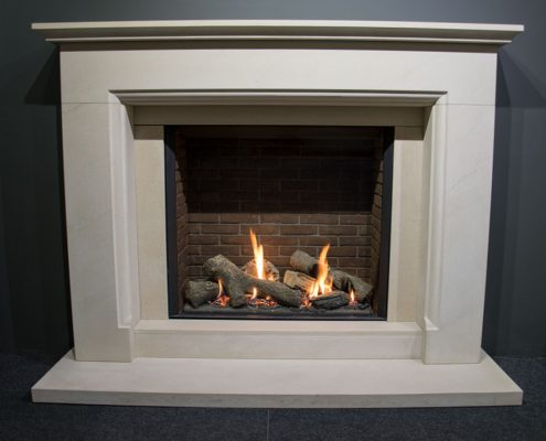 Natura Fireplaces Derby in New Stone Limestone