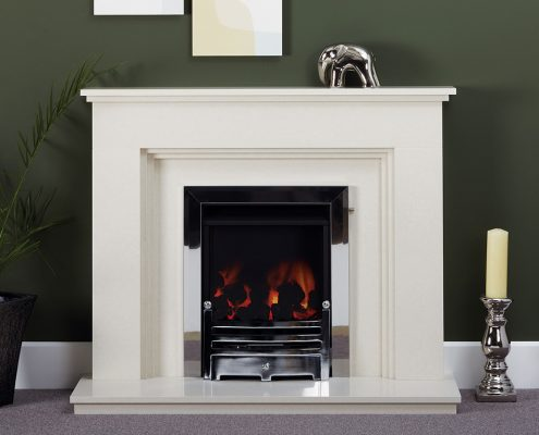 Natura Fireplaces Comforto in Moonlight Micro Marble