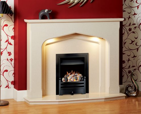 Natura Fireplaces Winchester in Moonlight Micro Marble