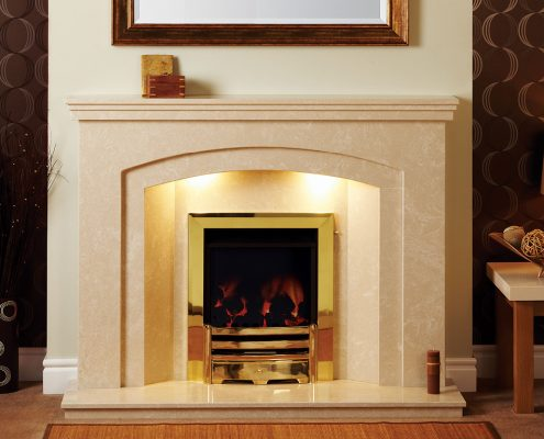 Natura Fireplaces Howden in Cimabue Micro Marble