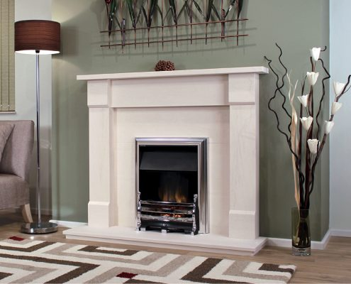 Newman Portuguese Limestone Fireplaces - Peneda from Designer Collection