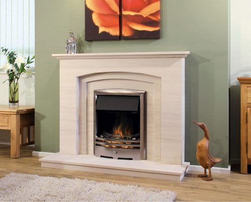 Newman Portuguese Limestone Fireplaces - Silver Coast from Designer Collection