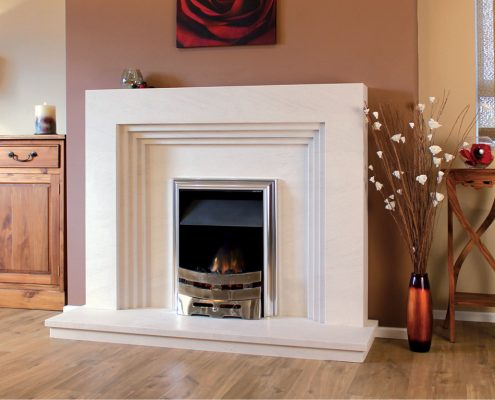 Newman Portuguese Limestone Fireplaces - Borba from Designer Collection