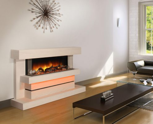 Newman 3D Dimension Electric Fireplace