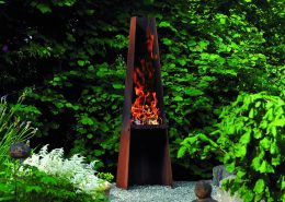 Rais Gizeh - outdoor fireplace or BBQ in Corten Steel