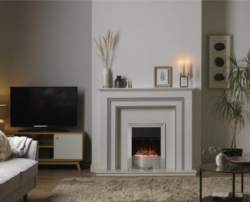 Dimplex Optiflame Ellister Hearth Mounted Electric Fire