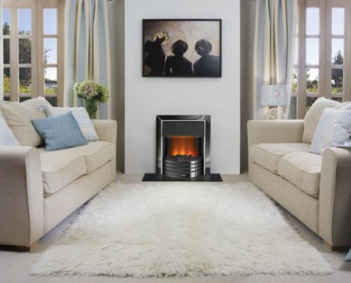 Dimplex Optiflame Freeport Hearth Mounted Electric Fire in Black