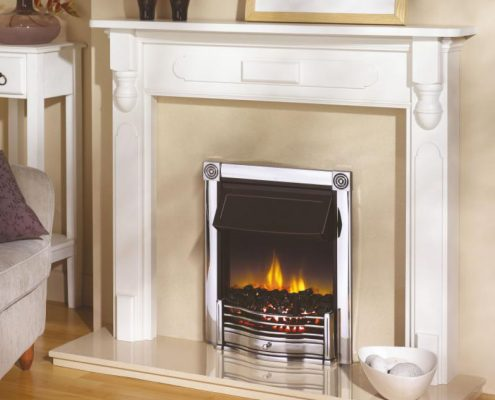 Dimplex Optiflame Horton Hearth Mounted Electric Fire in Chrome