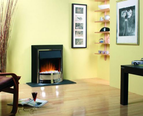 Dimplex Optiflame Zamora Freestanding Electric Fire in Chrome