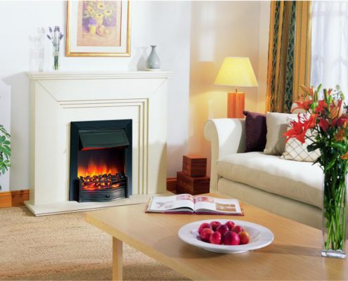 Dimplex Optiflame Danesbury Hearth Mounted Electric Fire in Black