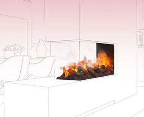 Open plan living room divider - Dimplex Optimyst Bespoke