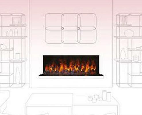 Modern living room – no mantel - Dimplex Optimyst Bespoke