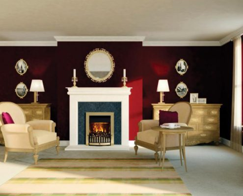 Dimplex Danville Optimyst Electric inset fire in Brass
