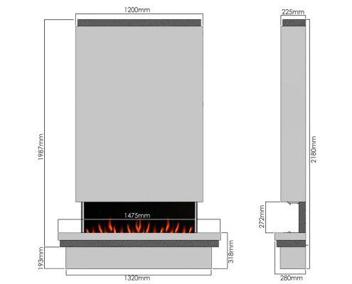 Evonic Bonham 10 electric fire - Legacy range