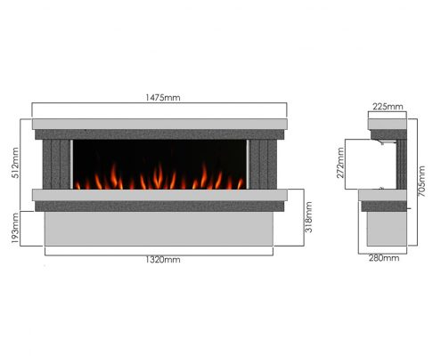 Evonic Gilmour 10 electric fire - Legacy range