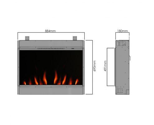 Evonic Newton 9 electric fire - Legacy range