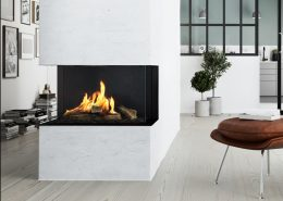 Rais Visio 903S three-sided built-in gas fire