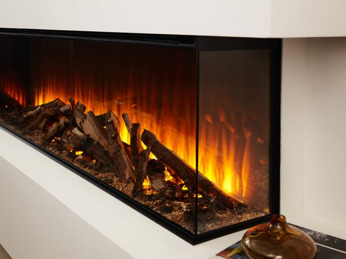 British Fires: New Forest 1600 electric fire - Deluxe Real Log