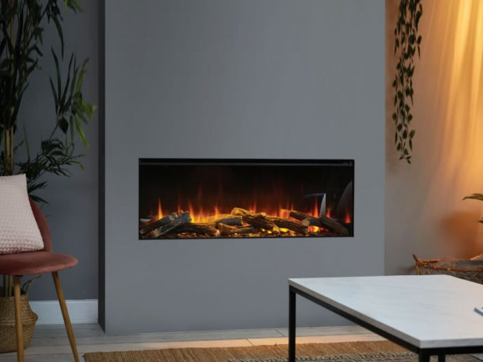 British Fires: New Forest 1200 electric fire - Front Facing