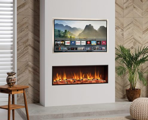 Media Wall with Gazco eStudio 105R electric fire