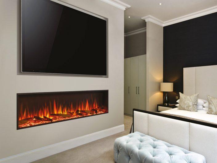Media Wall with Gazco eStudio 135R electric fire